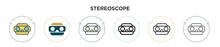 Stereoscope Icon In Filled, Th...