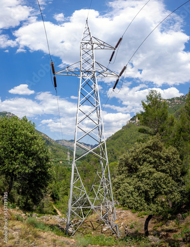 High-voltage electrical towers to transport energy