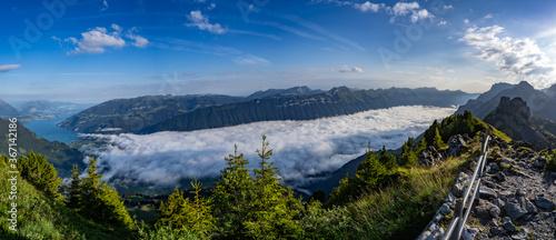 Schynige Platte Berner Oberland vor dem Sturm Gewitter Panorama Canvas Print