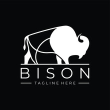 Bison Animal Logo Vector Icon