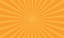Orange Sun Rays Background Wit...