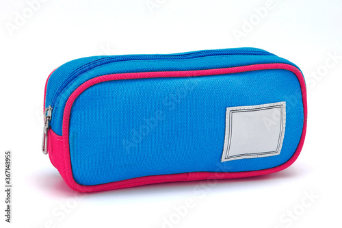 Canvas Print A pencil case or pencil box is a container used to store pencils