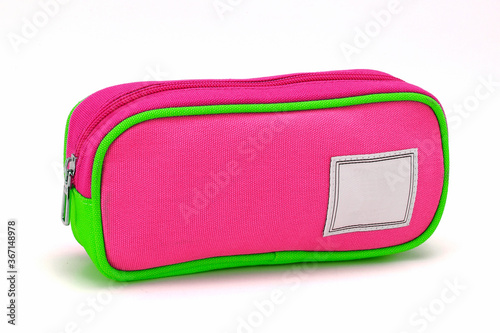 Fotografia A pencil case or pencil box is a container used to store pencils