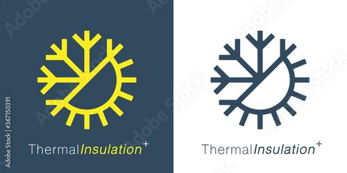 Carta da parati Thermal insulation icon