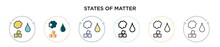 States Of Matter Icon In Fille...