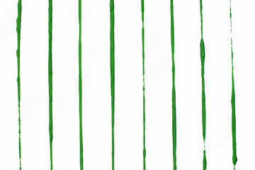 Green watercolor lines isolated on white background