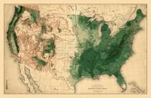 Map Of America 1883