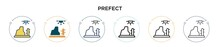 Prefect Icon In Filled, Thin L...