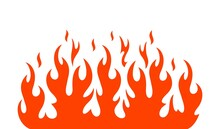 Fire Flame Logo. Isolated Fire...