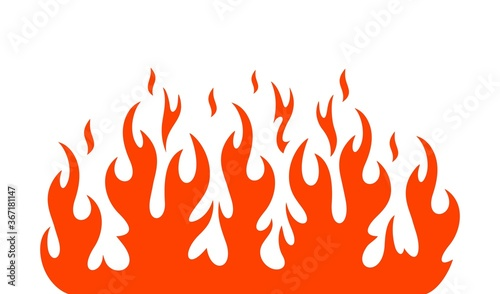 Photographie Fire flame logo. Isolated fire flame on white background