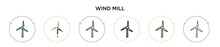 Wind Mill Icon In Filled, Thin...