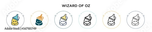 Fotografie, Obraz Wizard of oz icon in filled, thin line, outline and stroke style