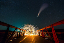 Long Exposure Of Spinning Stee...
