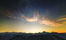 Amazing Night Mountain Landsca...