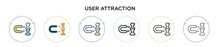User Attraction Icon In Filled...