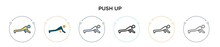 Push Up Icon In Filled, Thin L...