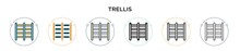 Trellis Icon In Filled, Thin L...