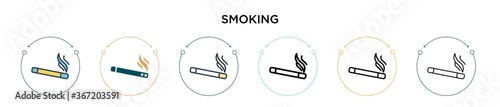 Photo Smoking icon in filled, thin line, outline and stroke style