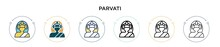 Parvati Icon In Filled, Thin L...