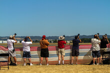 Hillsboro, Oregon;  People Photographing  The Various Airplanes At The Hillsboro Air Show.