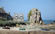 canvas print picture - An der Küste bei Plougrescant, Bretagne