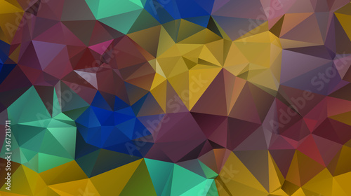 Fototapety, obrazy: Light luxury Gold vector polygon abstract layout , Low Poly Background . vector blurry triangle texture. Brand new colorful illustration in with gradient. Brand new style for your business design.