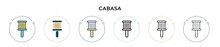 Cabasa Icon In Filled, Thin Li...