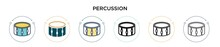 Percussion Icon In Filled, Thi...