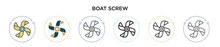 Boat Screw Icon In Filled, Thi...