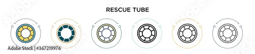 Fotografia Rescue tube icon in filled, thin line, outline and stroke style