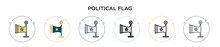 Political Flag Icon In Filled,...