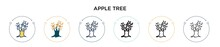Apple Tree Icon In Filled, Thi...