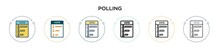 Polling Icon In Filled, Thin L...
