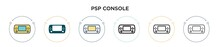 Psp Console Icon In Filled, Th...
