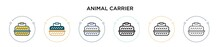 Animal Carrier Icon In Filled,...
