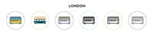 London Icon In Filled, Thin Line, Outline And Stroke Style. Vector Illustration Of Two Colored And Black London Vector Icons Designs Can Be Used For Mobile, Ui, Web