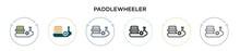 Paddlewheeler Icon In Filled, ...