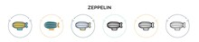 Zeppelin Icon In Filled, Thin ...