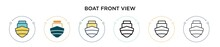 Boat Front View Icon In Filled...