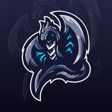 Dragon E-sports Team Logo Template