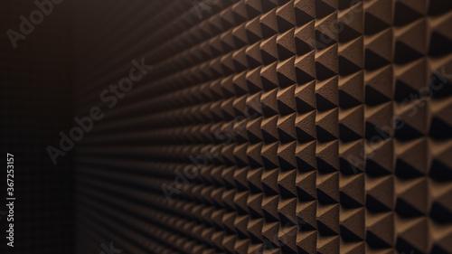 Fotografie, Obraz 3D rendering, illustration of a soundproofing foam wall , porous texture materia