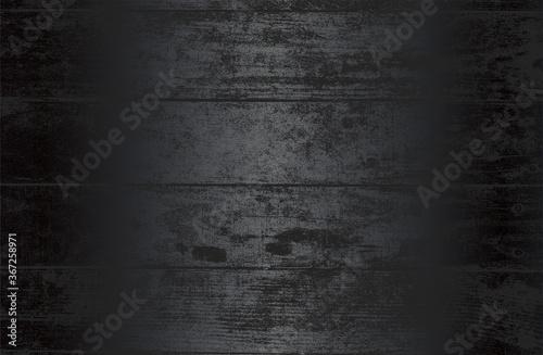 Fotografia Luxury black metal gradient background with distressed wooden parquet texture