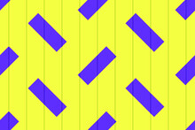 Seamless Vector Texture With Yellow Wooden Boards And A Geometric Pattern Of Purple Rectangles. For Printing Onto Fabrics, Covers And Substrates Of Books, Magazines, Booklets And Websites