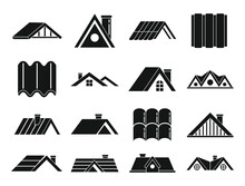 Roof Icons Set. Simple Set Of ...