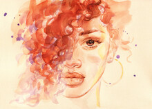 African American Woman. Illust...