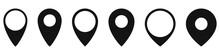 Set Of Location Icons In Flat ...