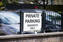 No Parking Private Property Residents Car Park Sign
