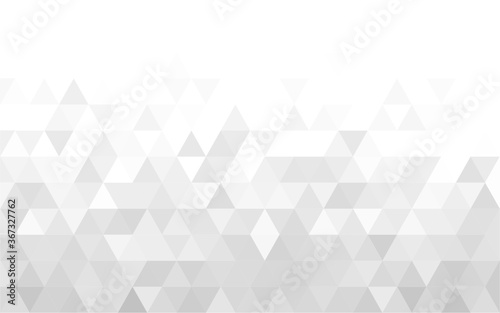 Fotografie, Obraz Gray polygonal mosaic background, Vector illustration, Used for presentation, website, poster, business, work