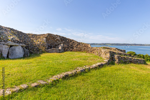 Fotografia the great cairn of Barnenez, in Brittany