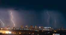Several Bright Lightning Bolts...